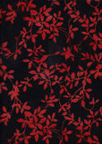CAOY 084 Black and Orange Leaves Anthology Batik