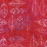 CAR 267 Pinky Red Feathers  Anthology Batiks
