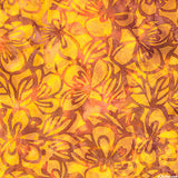 CAOY 157 Sunny Blooms Glowing Yellow  Anthology Batiks