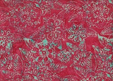 CAR 288 Hot Pink Aqua Tropical Flower  Anthology Batiks