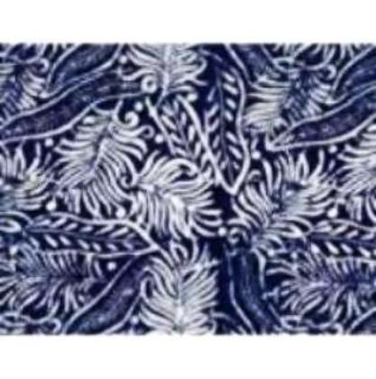CAB 460 Indigo Tropical Fern Leaves