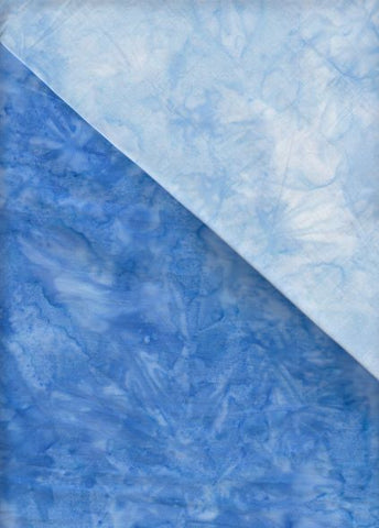 BA OMBRE  557 Mid Blue To Sky Blue Graduation [ .25 cm strip across the fabric]