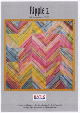 BA Pattern Batik Australia Ripple no 2 Quilt Pattern NEW