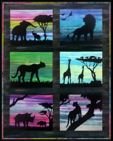 BA Pattern - African Silhouette -  Complete Set Of All Six Patterns More Stock Available Soon