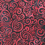 CAWBG 700  Red Black Swirls Anthology Batik