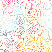 BAPASTEL 601 Tropical Multi Pastel Bright's Flower Print