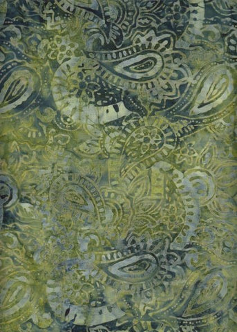 BA 142 517 C  Rich Green Abstract Paisley