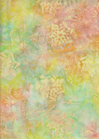 CAOY 117  Citrus Yellow Orange Green Abstract Flower