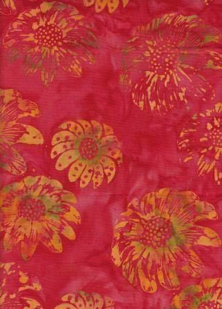 CAR 209  Red Orange Flower NEW