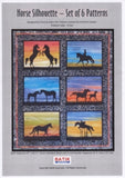 BA Pattern Australian Silhouette Horse Pattern with Fabric 4 S 017 with fabric