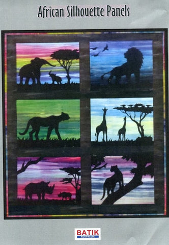 BA Pattern [fabric Included] S-005 African Silhouette Rhino Pattern
