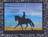 BA Pattern Australian Silhouette Horse Pattern with Fabric 3 S 014 with fabric