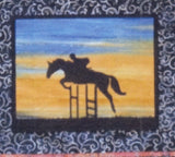 BA Pattern Australian Silhouette Horse Pattern with Fabric 1 S 018 with fabric