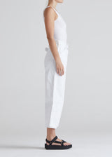DEVON CROP IN OPTIC WHITE