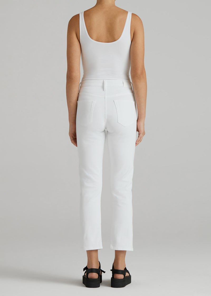 Elin Crop In Optic White