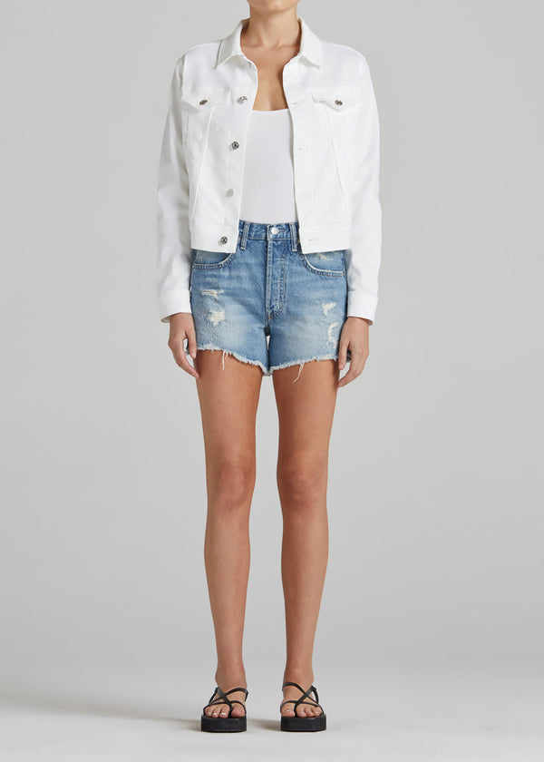 EVIE JACKET IN OPTIC WHITE