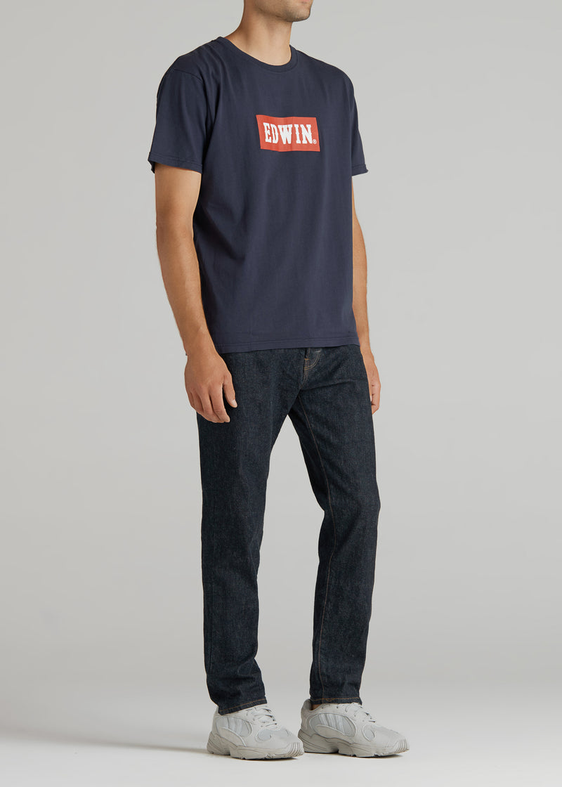 BASIC PRINT H/S TEE IN NAVY
