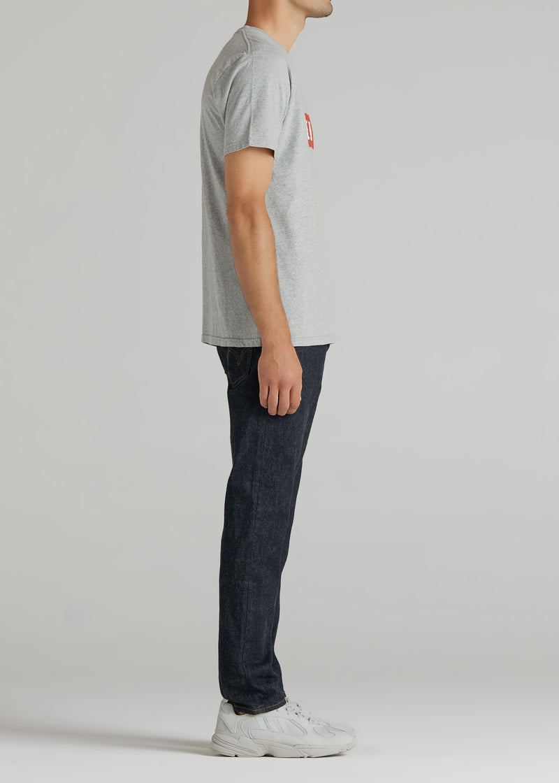 Basic Print H/S Tee In Grey