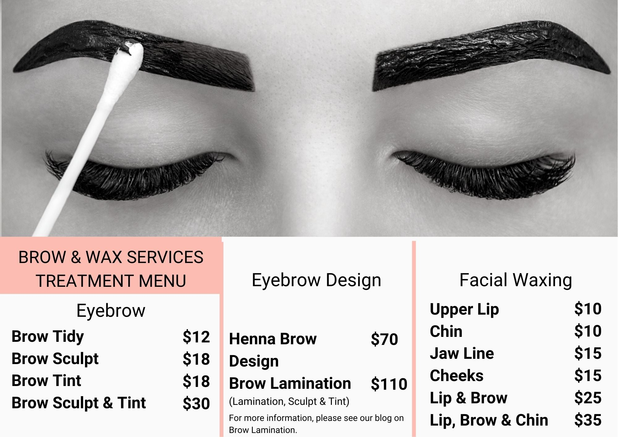 Brows, Brow Prices, Brow Lamination, Henna Brows, LQ Beauty, Croydon