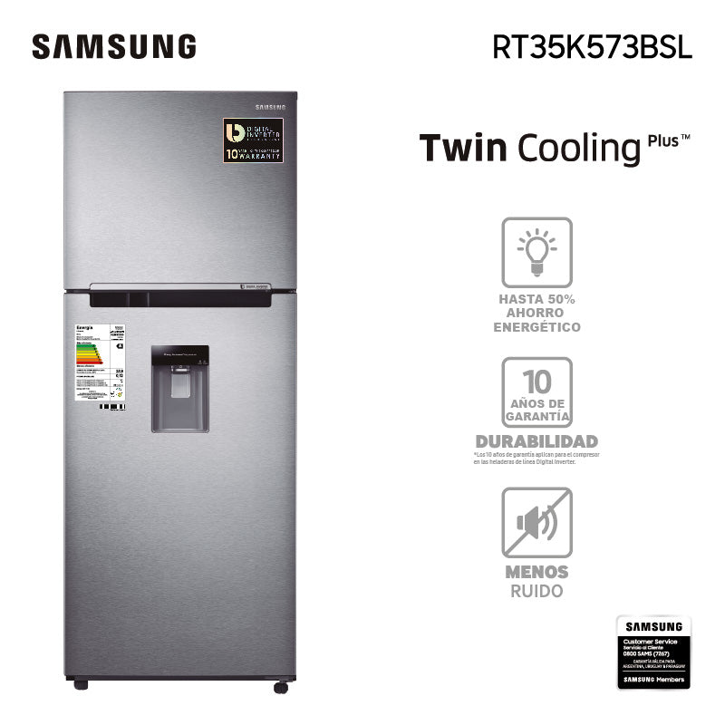 REFRIGERADOR TWIN COOLING PHILIPS 361L