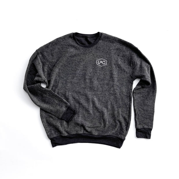 LAC BADGE DROP SHOULDER SWEATSHIRT