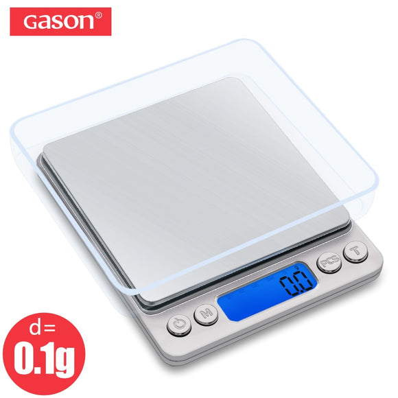 GASON Z1s Digital Kitchen Scale Mini Pocket Stainless Steel Precision Jewelry Electronic Balance Weight Gold Grams(3000gx0.1g)