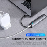 Baseus USB C HUB USB to Multi HDMI USB 3.0 RJ45 Carder Reader OTG Adapter USB Splitter for MacBook Pro Air USB Dock Type C HUB