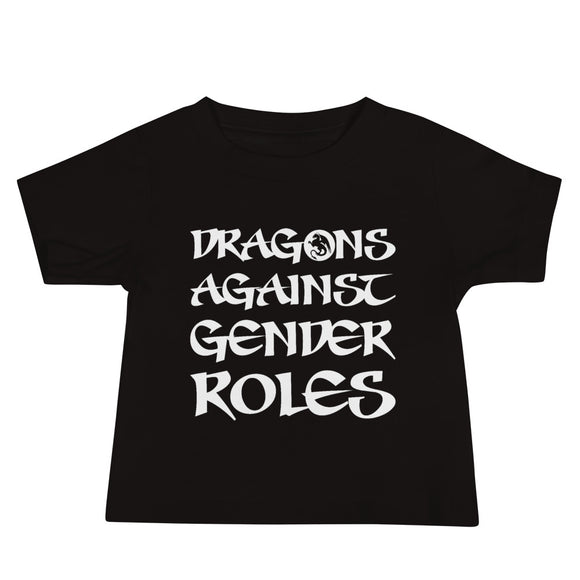 Baby T-shirt, Shower, Gift, Dragons Against Gender Roles, Funny, Gift, Gifts, Dice, Gamer, Mtg
