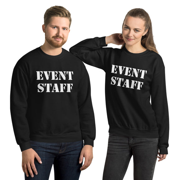 Event Staff Sweatshirt, Unisex Sweatshirt for, Concerts, Clubs, Venues, Staff, Employee, Function, Business, Party