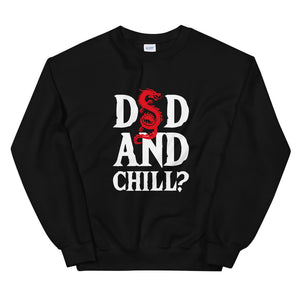 DnD and Chill, Sweatshirt, Sarcastic, D And D, Dnd, Funny, Mtg, Gift, Gift, Unisex