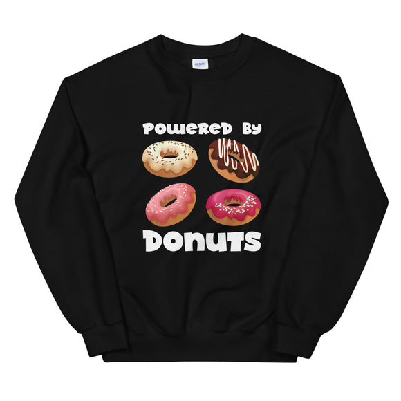 Powered by donuts, Sweatshirt, Gift, , , Funny, , , Gift, Unisex