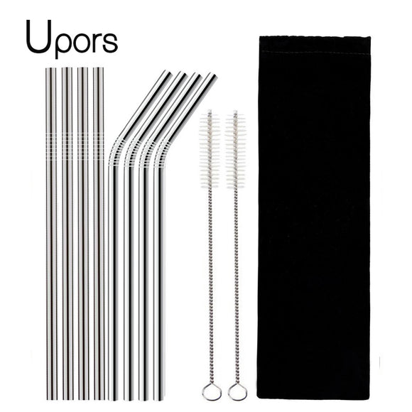 Reusable Drinking Stainless Steel Straw Set