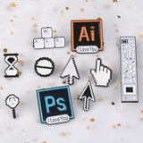 Computer Icons Enamel Brooches Pins
