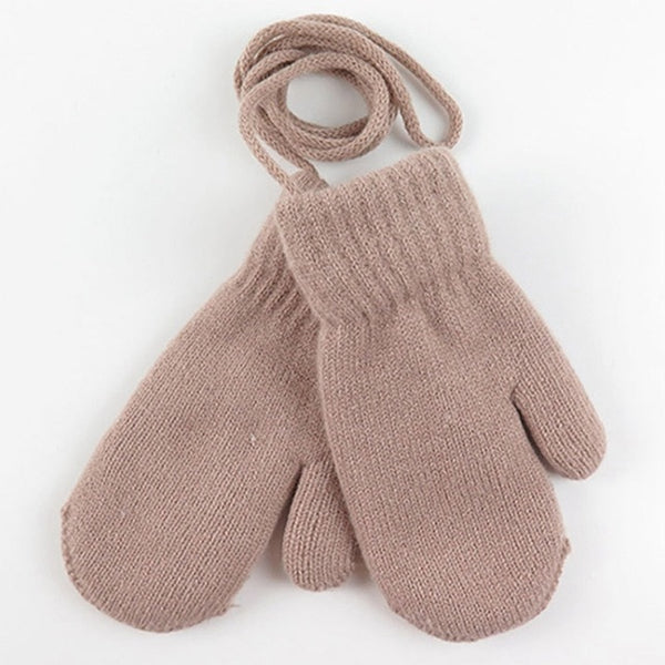 1 Pair Boys Girls Knitted Gloves