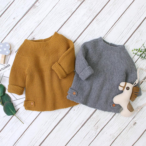 Baby Sweaters Pullovers Fashion Solid