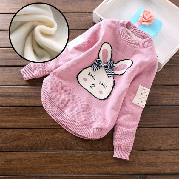 Spring Autumn Girls Sweater Warm