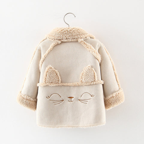 Jackets Baby Girls Sweater Fur Coat