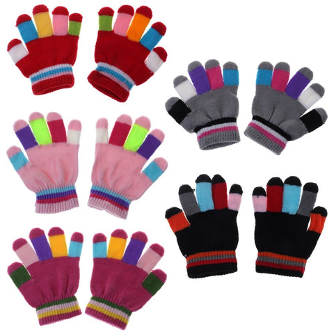 1 Pair Kids Gloves Full Finger