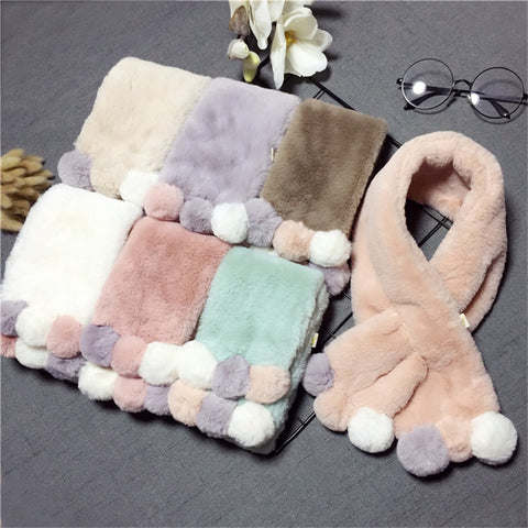 Imitation Rabbit Fur Collar Scarf