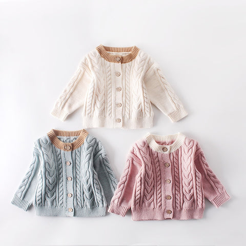 Winter Cotton Sweater Coat Baby
