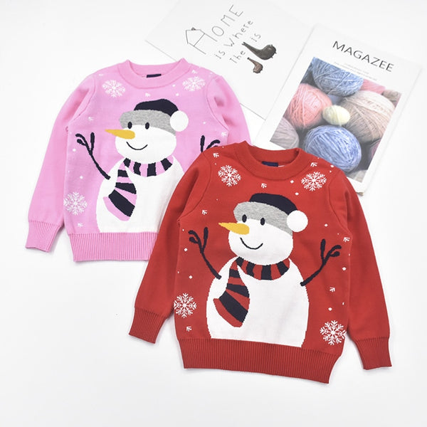 Snowman Sweaters Kids Christmas