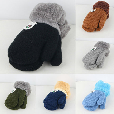 Keep Warm Knitted Baby Gloves