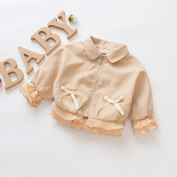 Zipper Doll Collar Autumn Coats