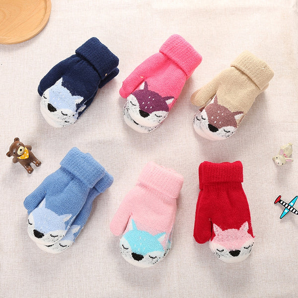 Cute Winter Thicken Warm Gloves