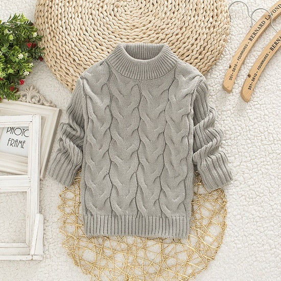 Kids Baby Boys Girls Solid Sweaters