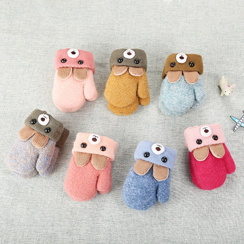 Cute Bear Cartoon Baby Gloves