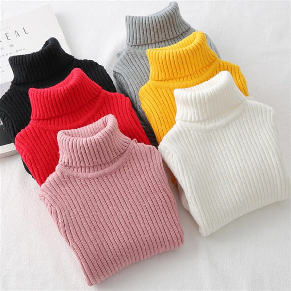 Baby Girls Winter Turtleneck Sweater