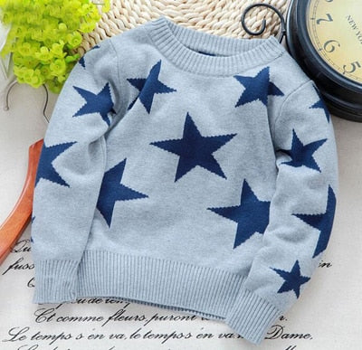 Child Five-pointed Star Sweater Pullover