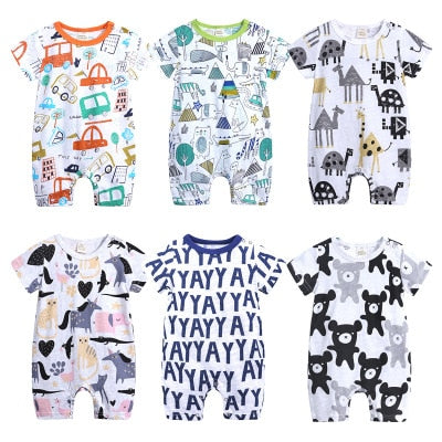 Baby Rompers Short Sleeve