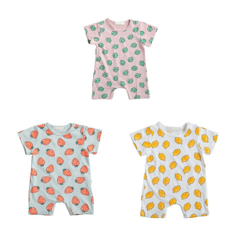 Girls Fruit Print Short Sleeve